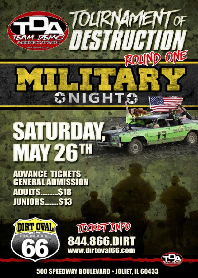 The 2018 Team Demolition Derby Tournament of Destruction begins Saturday Night