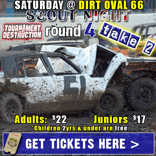 Double-Dose of Destruction @ Dirt Oval 66!
